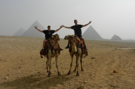 UNH students on camels