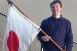 cory mckensie, with japanese flag