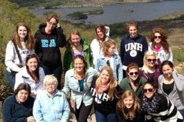 students on ireland study abroad trip