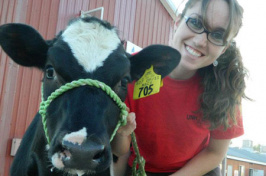 jackie buckley with cow