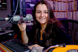 alicia jacobs, dj at WUNH