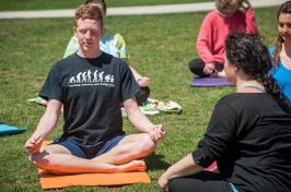 jason kelly doing yoga and meditation