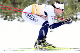 johnny tuck - cross country skier