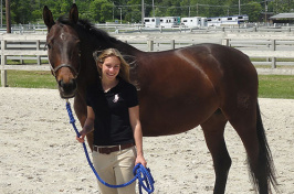 kate frazier with horse