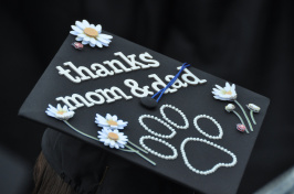 A UNH graduate's mortarboard