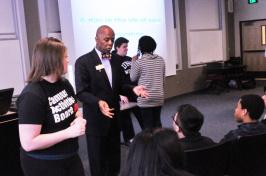 Richard Haynes with students