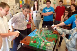 science students at sanborn high school