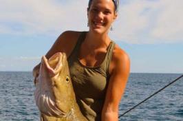 sarah vanhorn with cod fish