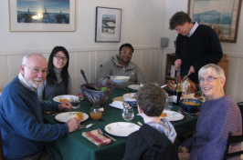 thanksgiving meal with students