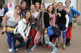 summer students attending olympic games in london