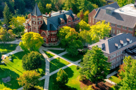 aerial photo of thompson hall