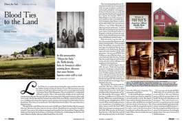 tuttles farm, pages for Yankee magazine with photos