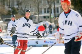 ice hockey players at black ice tournament