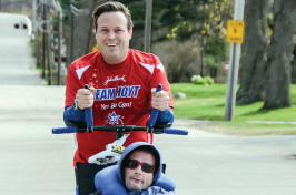 Bryan Lyons '91 and Rick Hoyt
