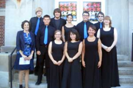 Manchester West High School a cappella group.