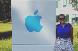 UNH student Abby Koczera '17 at Apple