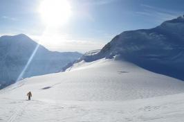 Cameron Wake skiing in Denali National Park