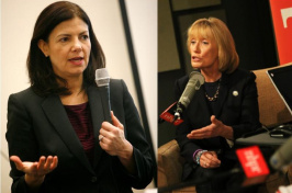 Kelly Ayotte and Maggie Hassan (Photos: NHPR)