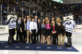 Sophomore Shadow Program students at UNH