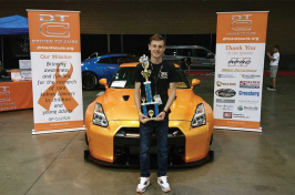 UNH student Andrew Lee '18, the creator of charity Driven to Cure