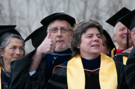Neil Vroman at UNH commencement