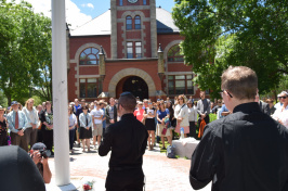 Members of the UNH community gather to honor victims of the Orlando shooting spree