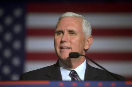 Republican vice presidential candidate Governor Mike Pence spoke Monday in Milford, N.H. (Photo by Jim Cole/AP)