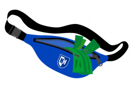 An illustration of the UNH fanny pack