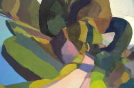 a landscape painting by UNH lecturer in art and art history Rick Fox