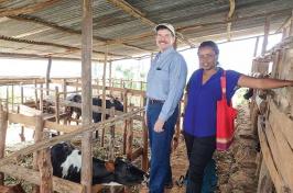 Drew Conroy with Rwandan colleague Aurore Ugirabe
