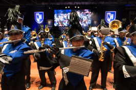 UNH marching band at Hear Us Roar event