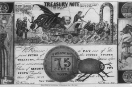 a fake $0.75 banknote from the Panic of 1837 (LIBRARY OF CONGRESS/LC-USZ62-1566)