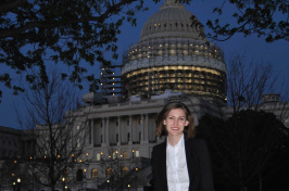 UNH senior Jennie Marinucci in Washington, DC
