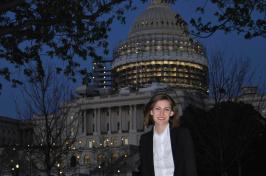 UNH senior Jennie Marinucci in Washington, DC