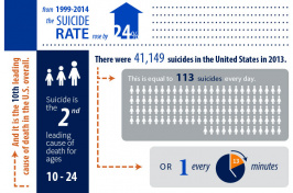An infographic showing information on suicide