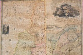 An historic map of New Hampshire in UNH's collection