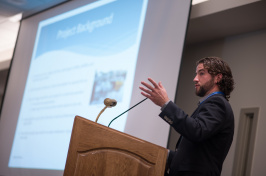 UNH graduate student at annual research conference