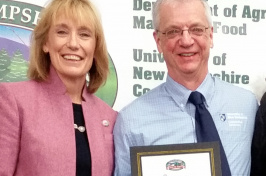 N.H. Governor Maggie Hassan and UNH Cooperative Extension specialist Mike Sciabarrasi