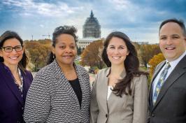 A NAFIS staff photo including UNH alumna Jocelyn Bissonnette