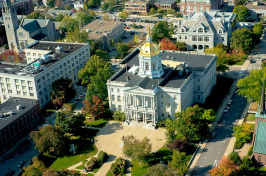 aerial view of the N.H. state house in Concord