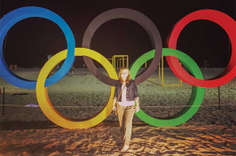 UNH alumna Katie McCarter '10 at the Rio Olympics