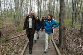 Bill Peterson, manager of Great Bay National Wildlife Refuge, and U.S. Sen. Jeanne Shaheen