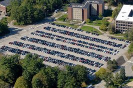Cars parked at UNH