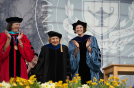 UNH faculty at commencement 2015