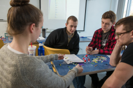 unh students in the science of stuff course