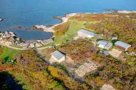an aerial view of UNH's Shoals Marine Laboratory