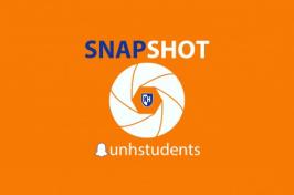 UNH Snapchat Snapshot graphic