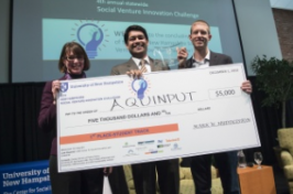 Winners of the Social Venture Innovation Challenge at UNH