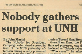 Nobody gathers support at UNH, TNH article headline