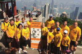 Foley Foundation 5K runners in Hong Kong